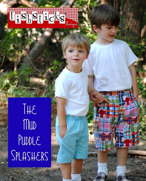 little boys shorts at hopeful threads and the free mud puddle splashers pdf pattern - Pictures For Little Boys