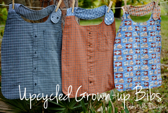 Upcycled GrownUp Bibs Stunning Adult Bib Patterns