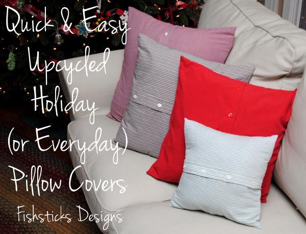 & Handmade Christmas \u2013 Quick Pillow Cover Tutorial pillowsntoast.com